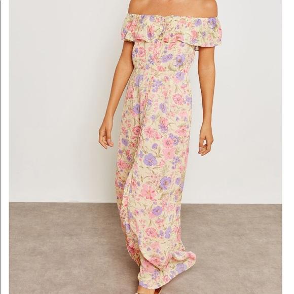 2dec7234e069 Topshop Dresses | Tall Maxi Bardot Floral Dress | Poshmark